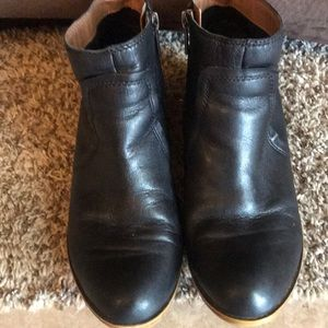 Lucky Black Leather Booties